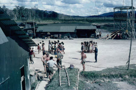 Local children and Servicemen at Bareo