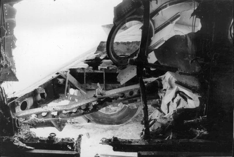 Damage to the fuselage