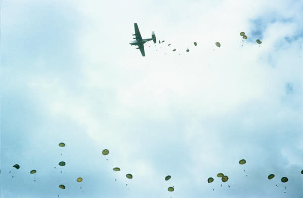 Beverley dropping paratroops